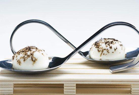 molino de alcuneza restaurante esferas de queso manchego con trufa negra
