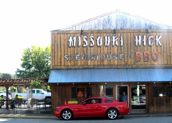 MIssouri Hick BBQ downtown Steelville MO... .. .O o-