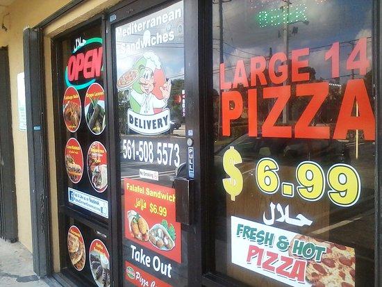 pizza corner mediterranean food front windows south military trail boynton west palm pizza corner