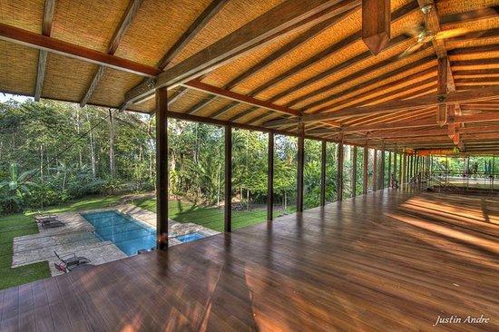 Iguana Lodge : Yoga Deck with Pool Below