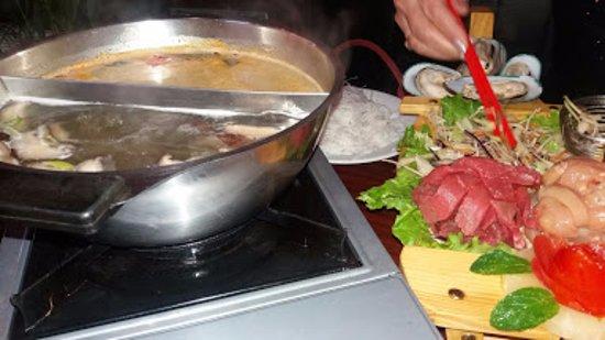 Coutras, ฝรั่งเศส: La fondue.