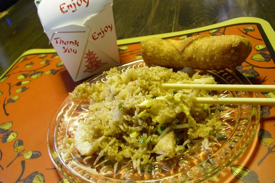 Chesterton, IN: Take away- Chicken Fried Rice and Egg Roll -Yum!