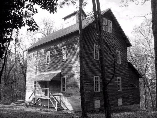 Alton Motel: Nearby Greer Mill, undergoing restoration..