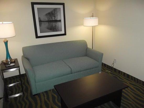 Bolivia, Carolina del Norte: Holiday Inn Express Southport NC Oak Island  NC Suite Living Room