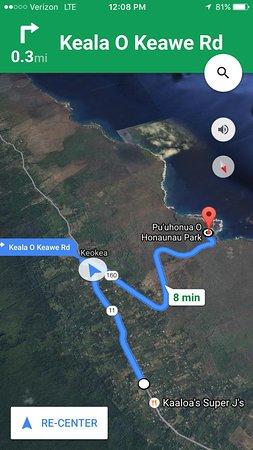 Honaunau, Hawái: Directions