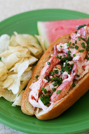 Spruce Head, เมน: Our Famous Lobster Roll with lobster fresh off our boat!