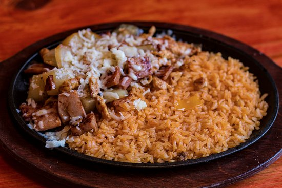 Mattoon, IL: Pollo Hawaiano....grilled chicken, pineapple, ham, onions topped with melted cheese and rice