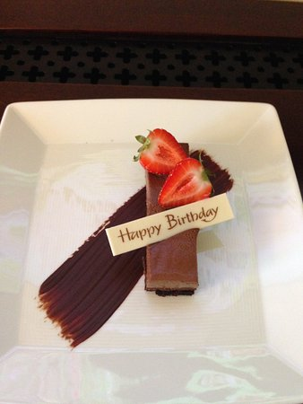 Mandarin Oriental, Washington DC: A birthday wish from the hotel.