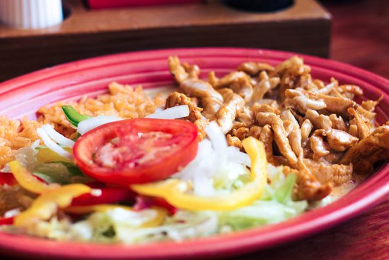 Mattoon, IL: Pollo Loco...grilled chicken topped with cheese sauce, served with rice and salad