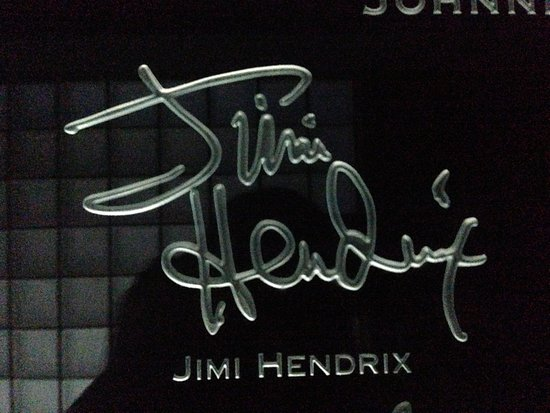 jimi hendrix signature picture of rock amp roll hall of