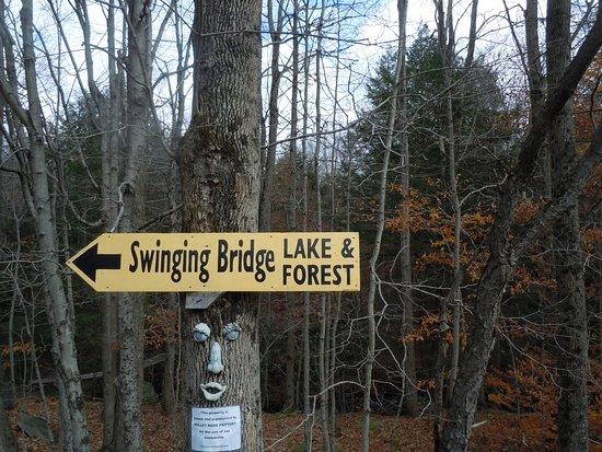 Cresco, PA: Swinging Bridge Lake & Forest
