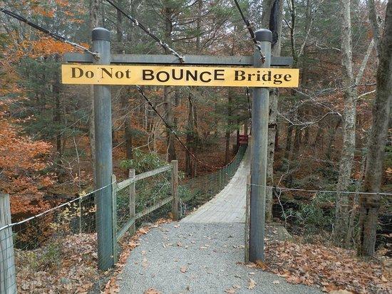 Cresco, PA: Do Not BOUNCE Bridge