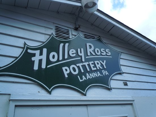 Cresco, PA: The iconic sign of Holley Ross Pottery in LaAnna, PA.