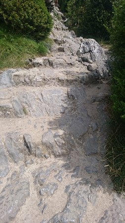 Montsegur, Frankrike: Ca grimpe.......ouille !