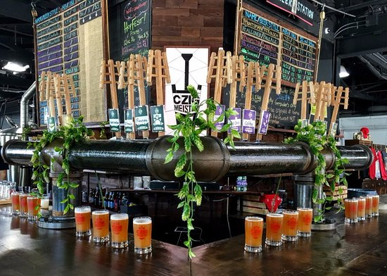 Hackettstown, NJ: 16 taps dedicated to pints flights, along with 8 additional taps dedicated to filling growlers!