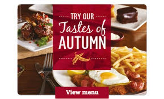 Pencoed, UK : Our Autumn menu is available now