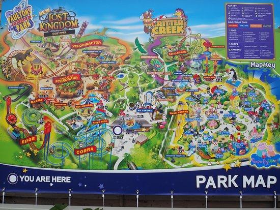 Paultons Park Map map of Paultons Park   Picture of Paultons Park, Romsey   TripAdvisor Paultons Park Map