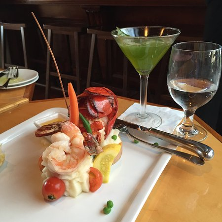 St. Orres: The lobster entree with a basil martini. Perfect!!