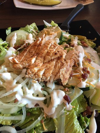 Gautier, MS: Grilled chicken salad with homemade ranch dressing.