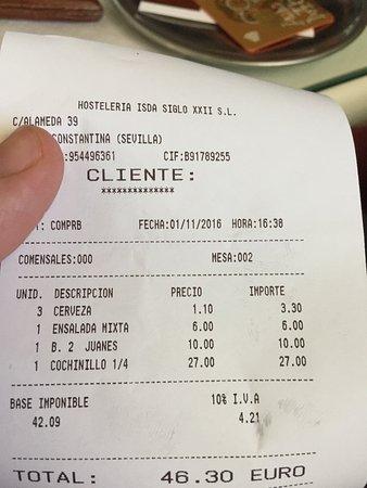 Constantina, Spanien: Al menos no nos cobraron las setas