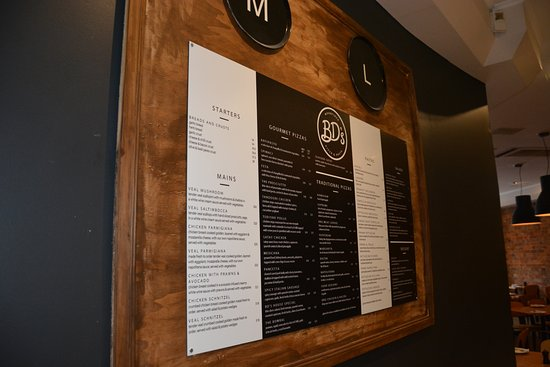 Our take away menu - Picture of BD's Woodfired Pizza and Pasta