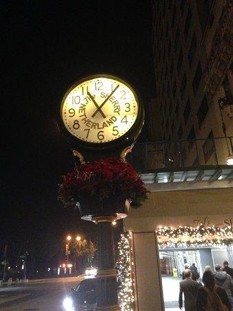 The Sherry-Netherland Hotel: Clock outside of hotel
