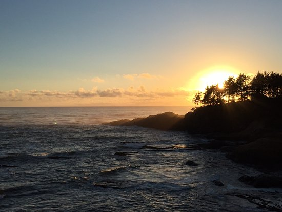 Depoe Bay, Oregón: view at sunset if you're lucky