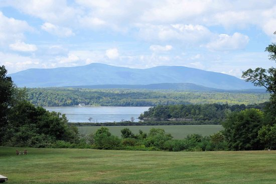 Annandale on Hudson, NY: View from Blithewood Gardens - Catskill mountains