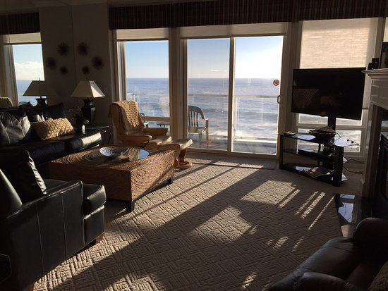 Depoe Bay, OR: ;living room with view