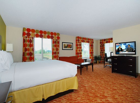 Spacious King Executive Suite In Anderson SC's Holiday Inn Express