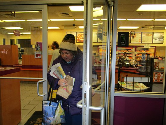 East Providence, RI: That is me leaving Dunkin Donuts.