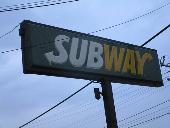 East Providence, RI: The Subway Sign on Warren Avenue.