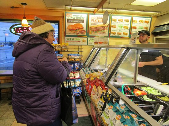 East Providence, RI: That is me placing an order at Subway.