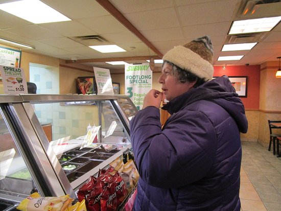 East Providence, RI: That is me at Subway waiting for my sandwich.