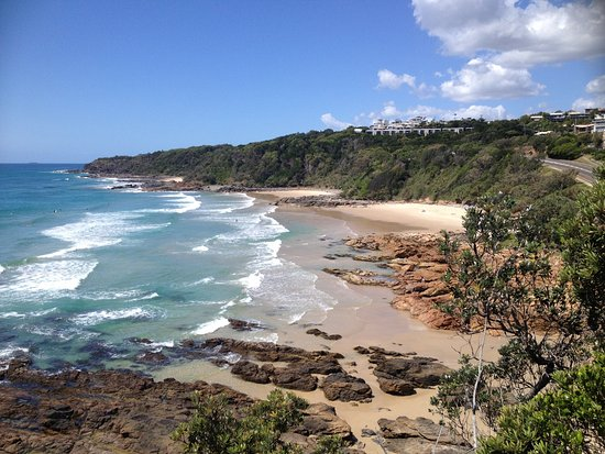 Coolum Beach, Australia: Looking south from the lookout towards Mudjimba