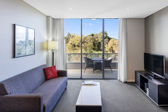 Meriton Suites George Street, Parramatta: Two Bedroom Suite - Living