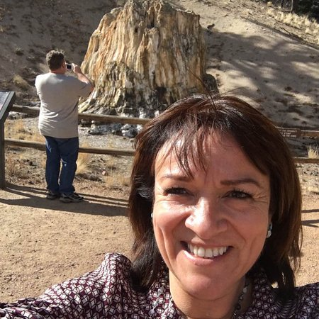 Florissant Fossil Beds National Monument: The Big Stump selfie
