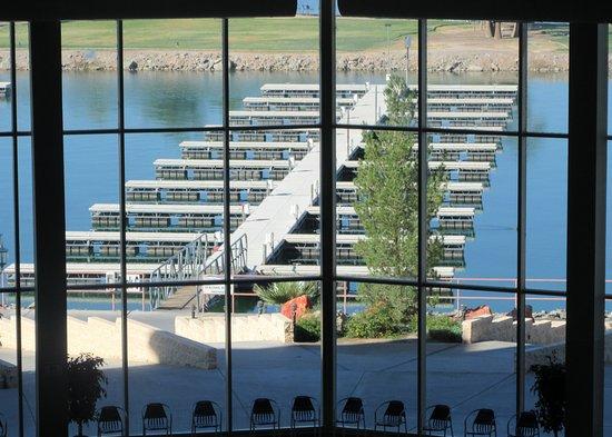Full Window View from Indoor Swimming Pool of Marin, BlueWater Casino, Parker, Arizona