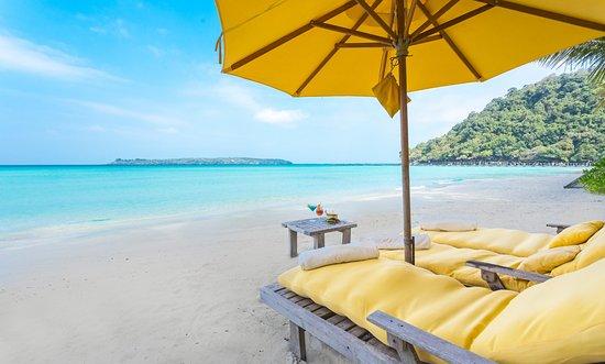 Private Beach at Soneva Kiri