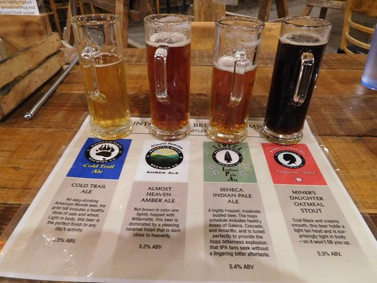 Mountain State Brewing Co.: Beer Sampler