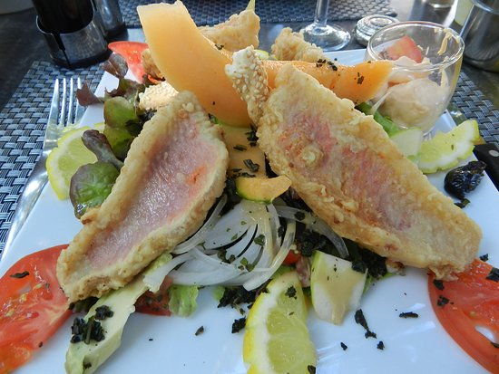 Sisco, France : Salade de rougets
