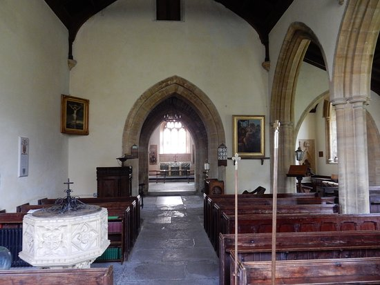 Stanton Drew, UK: Inside the church.