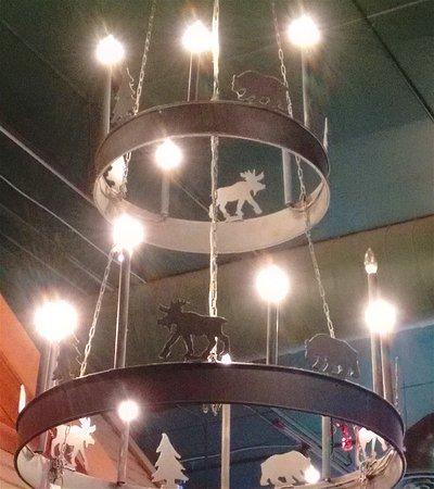 Cabin Coffee: Cabin chandelier