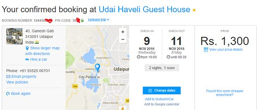 Booking ID Picture of Udai Haveli Guest House Udaipur TripAdvisor