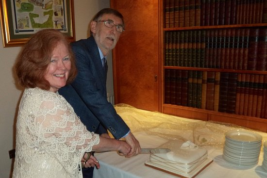Carnoustie, UK: Cutting the cake for our 50th Anniversary in the Hogan Suite