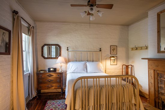 Monrose Row: room #2  double bed suite / antique iron bed