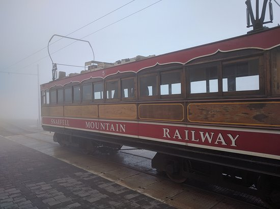 Manx Electric Railway: Snaefell Tramway on top of the Mountain