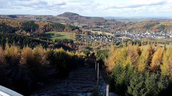 Aussicht vom Turm der Kolhaukuppe auf Geising
