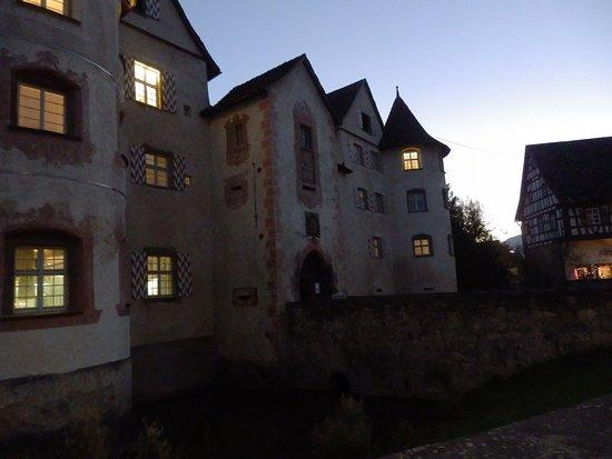Sulz am Neckar, Germany: Wasserschloss Glatt am Abend