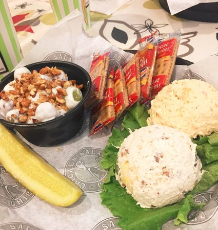 Chicken Salad Chick: Fresh chicken salad and delicious grape salad for lunch